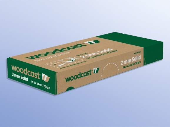 Woodcast 2 mm, ohne Inzisionen